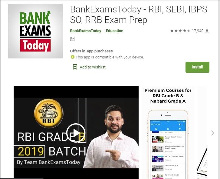 BankExamsToday-RBI, SEBI, IBPS SO, RRB Exams Prep