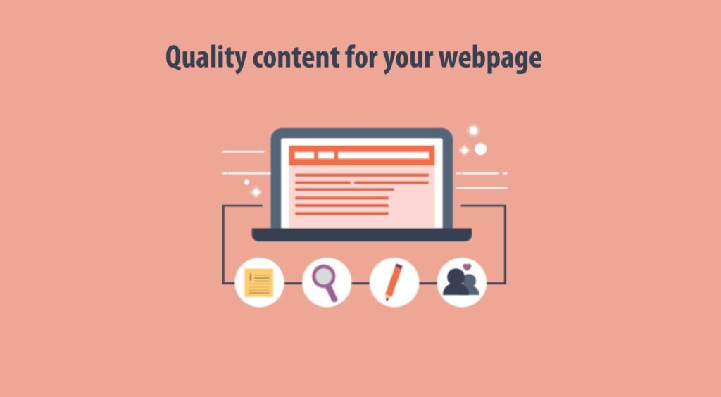 Quality content for your webpage